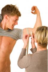Woman Measuring Biceps