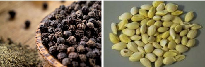 Lime and Black Pepper Seeds